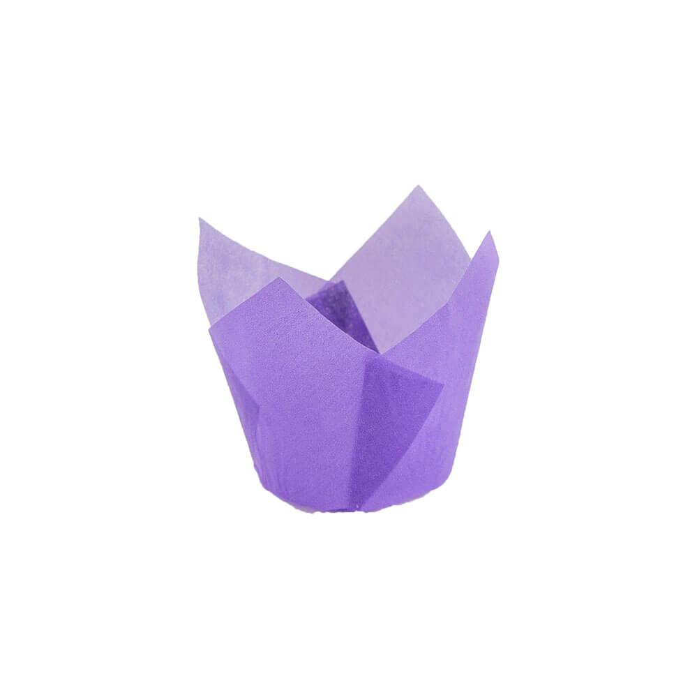 132 50 Purple Tulip Baking Cup Novacart