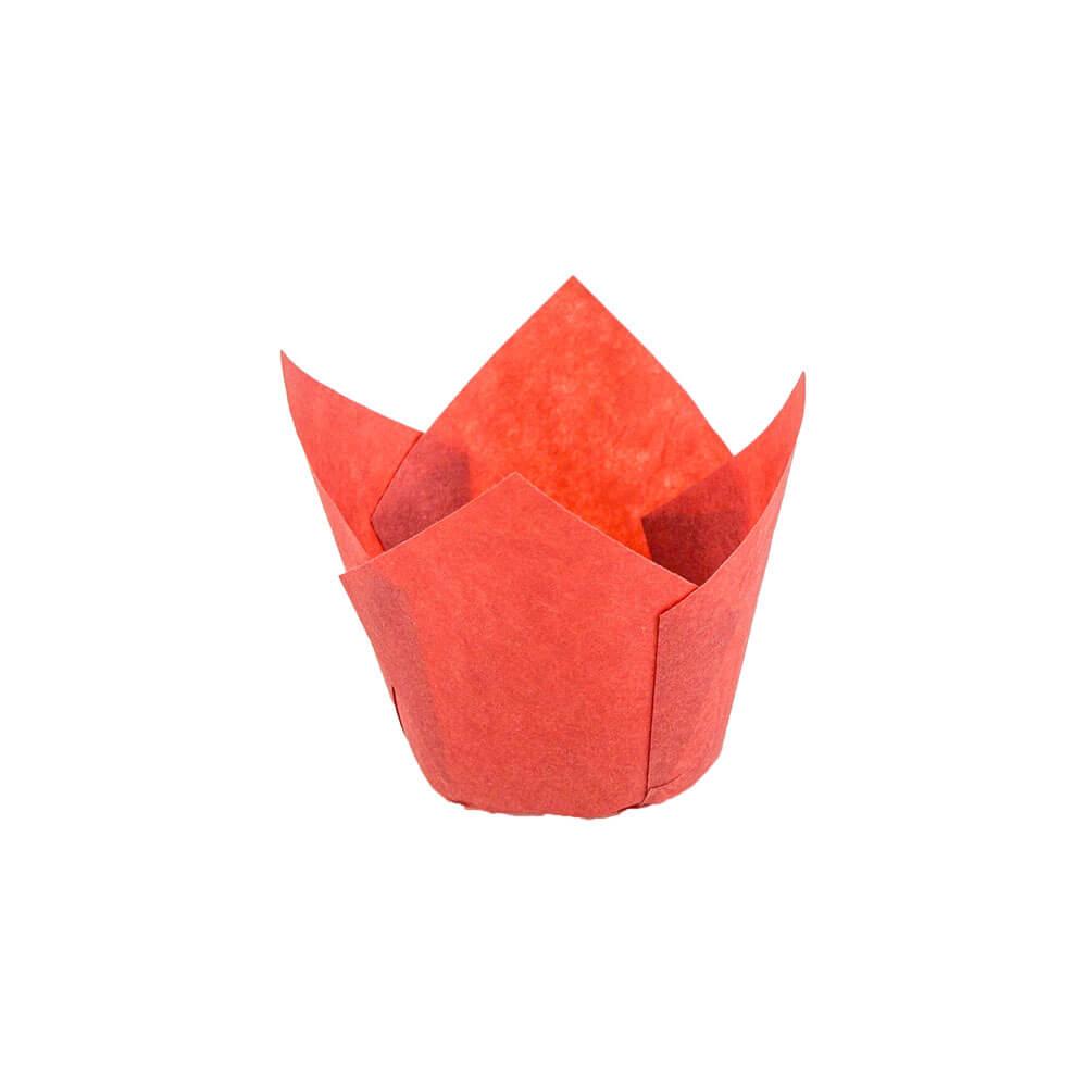 132 50 Red Tulip Baking Cup Novacart