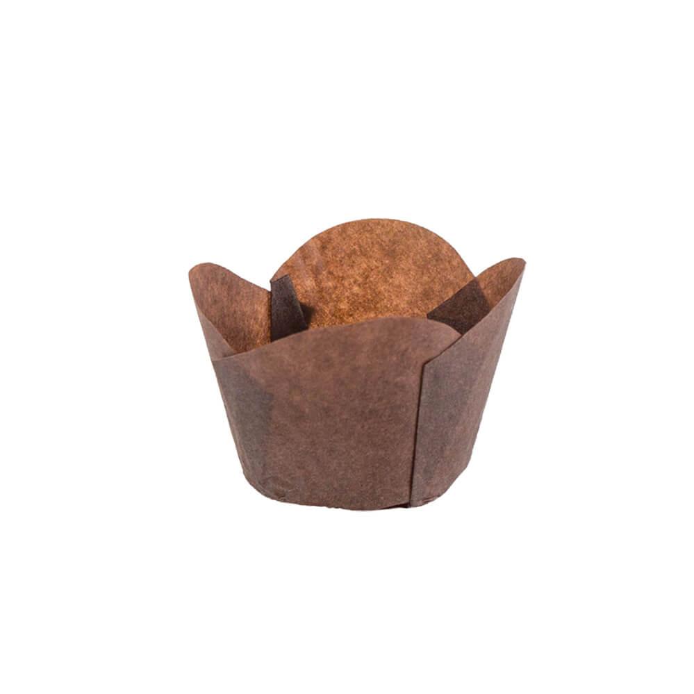 120 50 Brown Round Tip Tulip Baking Cup Novacart